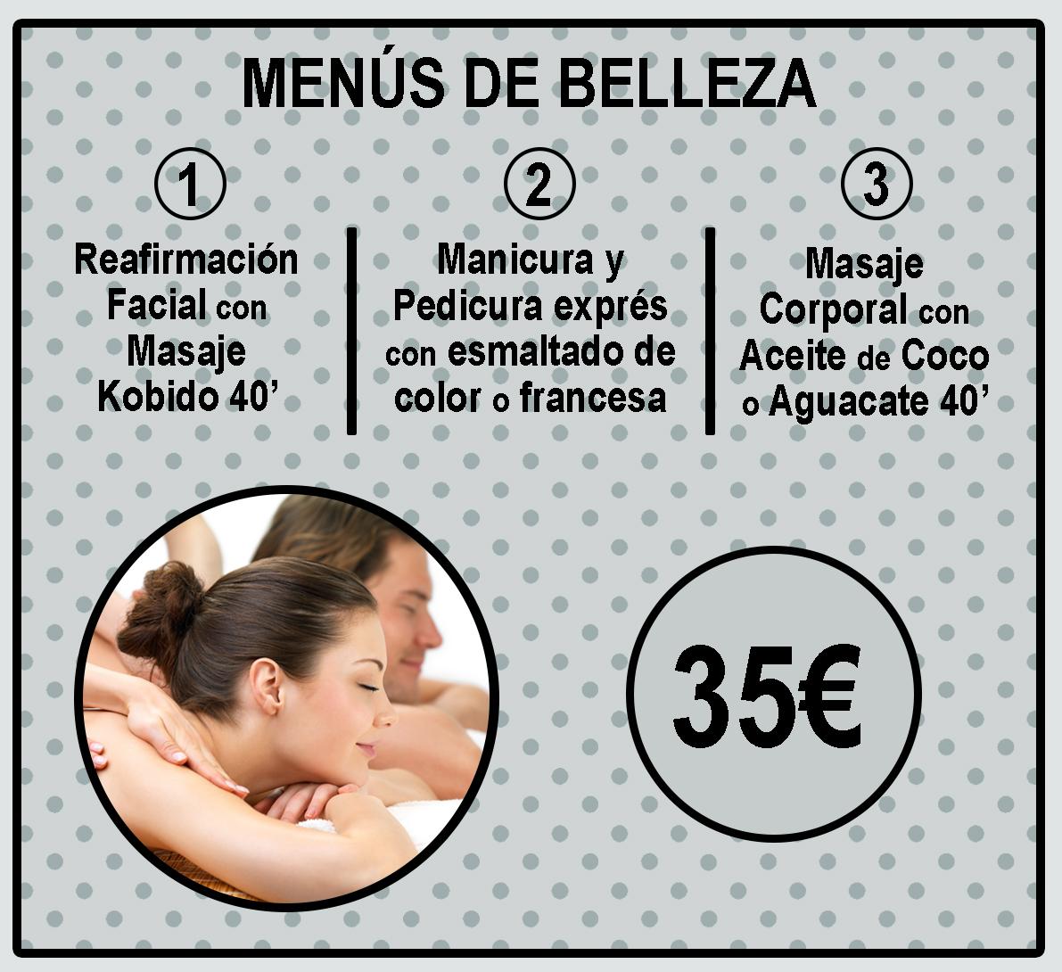 MENU DE BELLEZA NEGRO